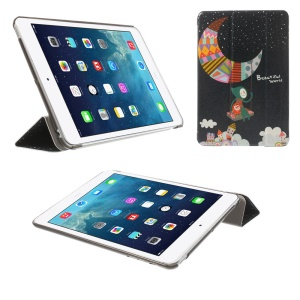 Smart Leather Cover Tri-fold Stand for iPad mini 2 / iPad mini - Beautiful World Moon