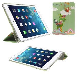 Tri-fold Leather Flip Smart Case Stand for iPad mini 2 / iPad mini - Beautiful World Clouds