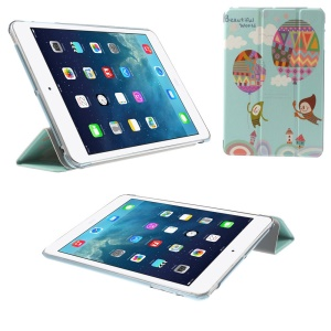 Tri-fold Leather Flip Smart Cover for iPad mini 2 / iPad mini - Beautiful World Hydrogen Balloon