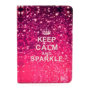 Keep Calm and Sparkle Smart Leather Case Cover Stand for iPad mini 2 / iPad mini