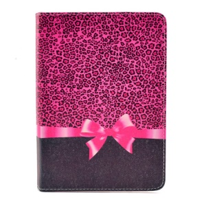 Leopard and Bowknot Smart Leather Cover with Stand for iPad mini 2 / iPad mini