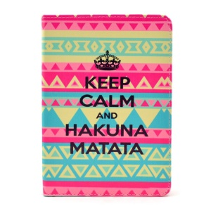 Quote Keep Calm and Hakuna Matata Stand Smart PU Leather Case for iPad mini 2 / iPad mini