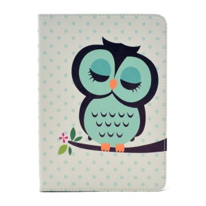 Cute Sleeping Owl Folio Stand Smart Leather Cover for iPad Mini 2 with Retina display / iPad mini
