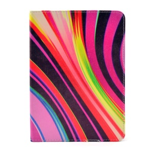 Colorful Stripes Smart Stand Leather Case Accessory for iPad Mini 2 / iPad mini