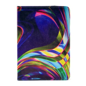 Blue & Colorful Lines Stand Durable PU Leather Smart Case for iPad Mini 2 / iPad mini