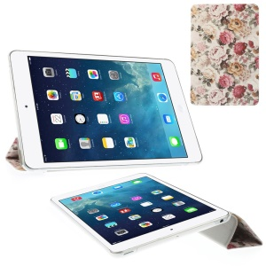 Blooming Chrysanthemums Tri-fold Stand Folio Smart Leather Case for iPad mini 2 / iPad mini
