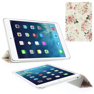 Charming Roses Tri-fold Stand Folio Smart Leather Tablet Cover for iPad mini 2 / iPad mini