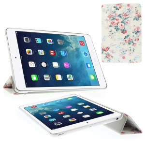 Morning Glories & Roses Folio Tri-fold Stand Leather Smart Shell for iPad mini 2 / iPad mini