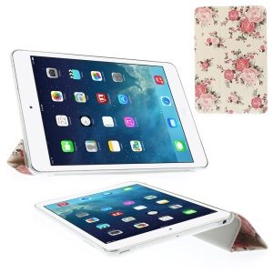 For iPad mini 2 / iPad mini Bouquets of Roses Tri-fold Stand Smart Leather Flip Case