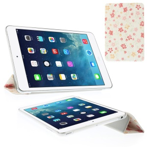 Five-leaf Flowers Tri-fold Stand Leather Smart Case for iPad Mini 2 with Retina display / iPad mini