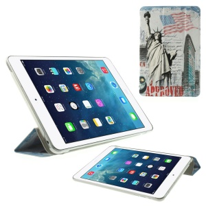 USA Statue of Liberty & High Building Smart Leather Case with Stand for iPad mini 2 / iPad mini