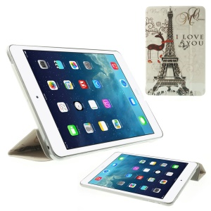 Paris Eiffel Tower & Antelope Folio Stand Smart Leather Tablet Case for iPad mini 2 / iPad mini