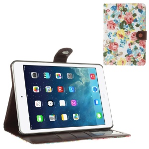 Blossom Cloth Leather Diary Stand Case for iPad Mini / iPad Mini 2 (Retina) - White