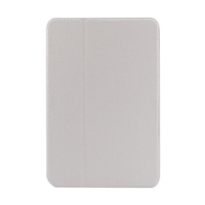 White Oracle Grain Leather Smart Cover w/ Inner Rotating Stand for iPad Mini / iPad Mini 2 Retina Display