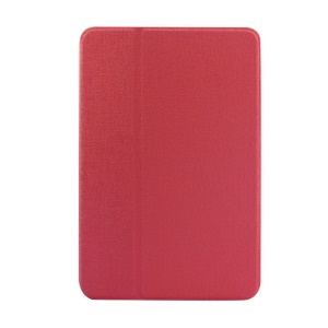 Red Oracle Grain PU Leather Smart Cover w/ Inner Rotating Stand for iPad Mini / iPad Mini 2 Retina Display