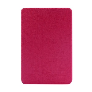 Rose Oracle Grain PU Leather Smart Case w/ Inner Rotating Stand for iPad Mini / iPad Mini 2 Retina Display