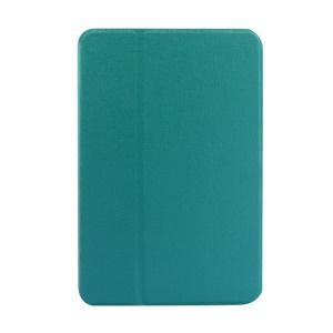 Cyan Oracle Grain Smart Leather Cover w/ Inner Rotating Stand for iPad Mini / iPad Mini 2 Retina Display