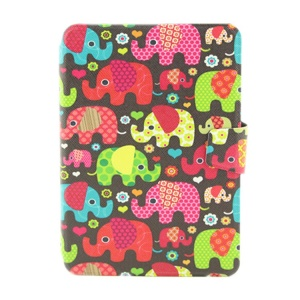 Whimsicality Elephants Smart Leather Card Holder Cover for iPad Mini  2 / iPad Mini w/ Rotary Stand