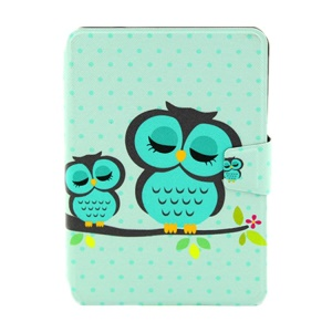 Sleeping Owls Smart Leather Card Holder Cover for iPad Mini  2 / iPad Mini w/ Rotary Stand