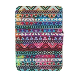 Colorized Tribal Smart Leather Card Holder Case for iPad Mini  2 / iPad Mini w/ Rotary Stand