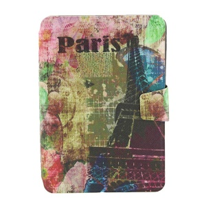 Pairs Eiffel Tower for iPad Mini  2 / iPad Mini Smart Rotary Leather Card Holder Case
