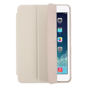 Tri-fold PU Leather Smart Cover for iPad Mini / iPad Mini Retina w/ Stand - Grey