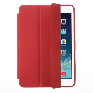 Tri-fold PU Leather Smart Cover for iPad Mini / iPad Mini 2 Retina w/ Stand - Red
