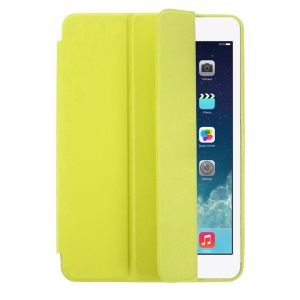 Tri-fold PU Leather Smart Case for iPad Mini / iPad Mini with Retina Display - Green