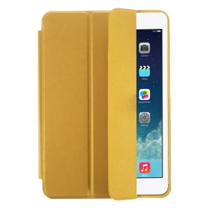Tri-fold PU Leather Smart Case for iPad Mini / iPad Mini with Retina Display - Gold