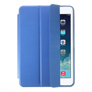 Tri-fold PU Leather Smart Case for iPad Mini with Retina Display / iPad Mini - Blue