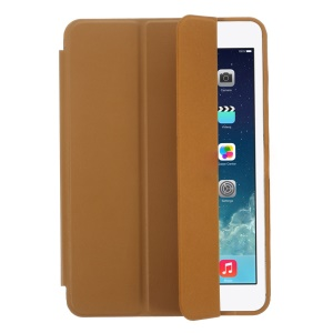 Tri-fold PU Leather Smart Cover for iPad Mini with Retina Display / iPad Mini - Brown