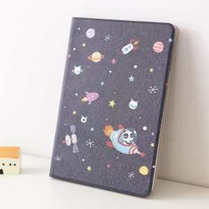 Mooke Pandada Series Silk Painting Smart Leather Flip Cover for iPad Mini / iPad Mini 2 - Space Panda