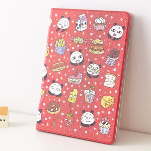 For iPad Mini / iPad Mini 2 Mooke Pandada Series Silk Painting Leather Smart Case - Panda with Delicious Food