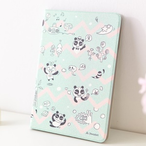 Mooke Pandada Series Silk Painting Smart Leather Case for iPad Mini / iPad Mini 2 - Mischievous Panda