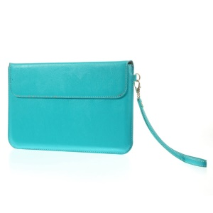 Universal PU Leather Pouch Bag w/ Kickstand for iPad Mini / iPad Mini Retina, Size: 20.5 x 13.5cm - Blue