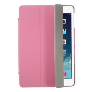 Tri-fold Stand Leather Smart Cover + Rubberized PC Back for iPad Mini / iPad Mini Retina - Pink