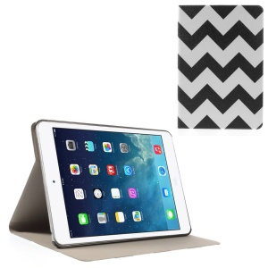 Chevron Stripes Folio Leather Stand Cover for iPad Mini / iPad Mini Retina