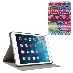Tribal Triangles Folio Leather Stand Cover for iPad Mini / iPad Mini Retina
