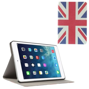 UK National Flag Folio Leather Stand Shell for iPad Mini / iPad Mini Retina