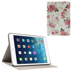 Blooming Flowers Folio Leather Stand Case Shell for iPad Mini / iPad Mini Retina