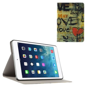 Love & Heart Folio Leather Stand Cover Shell for iPad Mini / iPad Mini Retina