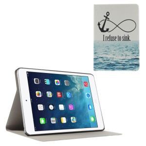 Quote I refuse to sink Folio Leather Stand Shell for iPad Mini / iPad Mini Retina