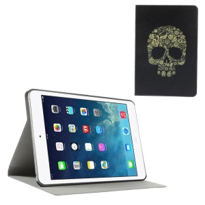 Sugar Skull Folio Leather Stand Case for iPad Mini / iPad Mini Retina