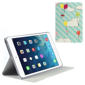 Silk Texture Balloon & Cloud Pattern Folio Leather Stand Shell for iPad Mini / iPad Mini Retina