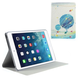 Silk Texture Tree & Fish Pattern Folio Leather Stand Case Shell for iPad Mini / iPad Mini Retina