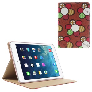 Colorized Sunflowers Smart Leather Stand Case for iPad Mini / iPad Mini 2 with Retina Display - Red