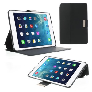 TOTU JAZZ Series Smart Leather Stand Cover for iPad Mini / iPad Mini 2 with Retina Display - Black