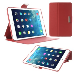 TOTU JAZZ Series Smart Leather Stand Case for iPad Mini / iPad Mini 2 with Retina Display - Red