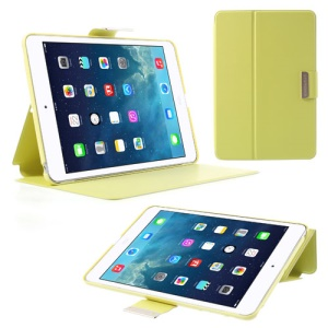 TOTU JAZZ Series Stand Leather Smart Case for iPad Mini / iPad Mini 2 with Retina Display - Green