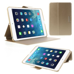 TOTU JAZZ Series Stand Leather Smart Cover for iPad Mini / iPad Mini 2 with Retina Display - Champagne Gold